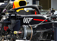 007 logo on the Redbull car during the Formula 1 Rolex British Grand Prix 2019 at Silverstone Circuit, Towcester, England on 14 July 2019. Photo by Vince  Mignott.