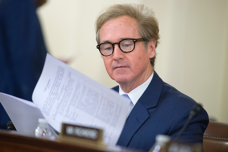 UNITED STATES - SEPTEMBER 30: Rep. Brian Higgins, D-N.Y.,  attends a House Homeland Security Committee markup addressing a variety of security related legislation in Cannon Building, September 30, 2015. (Photo By Tom Williams/CQ Roll Call)