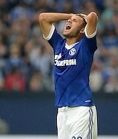 FUSSBALL   1. BUNDESLIGA   SAISON 2013/2014   1. SPIELTAG FC Schalke 04 - Hamburger SV          11.08.2013 Adam Szalai (FC Schalke 04)