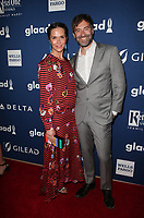 BEVERLY HILLS, CA - APRIL 12: Katie Aselton, Mark Duplass, At the 29th Annual GLAAD Media Awards at The Beverly Hilton Hotel on April 12, 2018 in Beverly Hills, California. <br /> CAP/MPI/FS<br /> &copy;FS/MPI/Capital Pictures