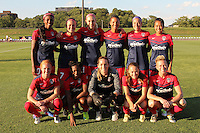 Piscataway, NJ - Saturday July 23, 2016: Washington Spirit Starting Eleven during a regular season National Women's Soccer League (NWSL) match between Sky Blue FC and the Washington Spirit at Yurcak Field.