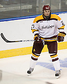 David Grun (Duluth - 27) - The University of Minnesota Duluth Bulldogs defeated the University of Maine Black Bears 5-2 in their NCAA Northeast semifinal on Saturday, March 24, 2012, at the DCU Center in Worcester, Massachusetts.