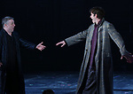 Nathan Lane and Andrew Garfield during the 'Angels in America' Broadway Opening Night Curtain Call Bows at the Neil Simon Theatre on March 25, 2018 in New York City.