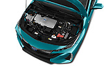 Car Stock 2018 Toyota Prius-Prime Plus 5 Door Hatchback Engine  high angle detail view