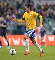 FUSSBALL   INTERNATIONAL   Testspiel    Japan - Brasilien          16.10.2012 KAKA (Brasilien) am Ball