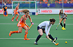 The Hague, Netherlands, June 09: Roos Drost #26 of The Netherlands defends during the match during the field hockey group match (Women - Group A) between The Netherlands and Korea on June 9, 2014 during the World Cup 2014 at Kyocera Stadium in The Hague, Netherlands. Final score 3-0 (1-0)  (Photo by Dirk Markgraf / www.265-images.com) *** Local caption ***