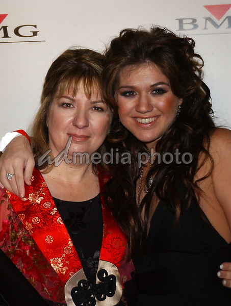 Feb. 8, 2004; Hollywood, CA, USA; Singer KELLY CLARKSON and mother during the BMG 46th Annual Grammy Awards Post-Grammy Gala Celebration held at The Avalon. Mandatory Credit: Photo by Laura Farr/AdMedia. (©) Copyright 2003 by Laura Farr