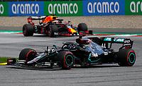 12th July 2020; Styria, Austria; FIA Formula One World Championship 2020, Grand Prix of Styria race day; FIA Formula One World Championship 2020, Grand Prix of Styria, 44 Lewis Hamilton GBR, Mercedes-AMG Petronas Formula One Team on his way to the win