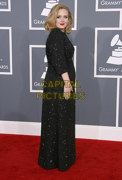 Adele (Adele Laurie Blue Adkins).The 54th Annual GRAMMY Awards held at The Staples Center in Los Angeles, California, USA..February 12th, 2012.full length black dress sparkly side.CAP/ADM.©AdMedia/Capital Pictures.
