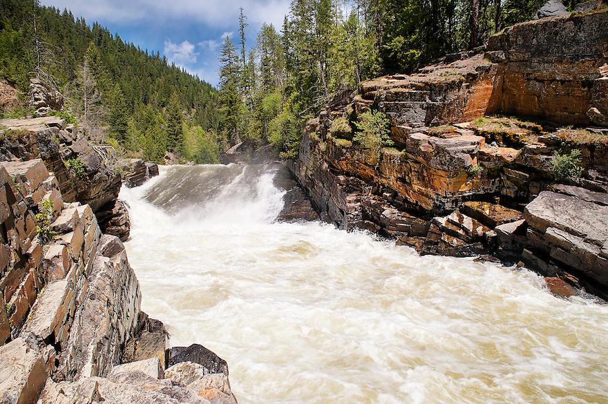 Yaak Falls crashes toward the Kootenai River near Libby, Montana.