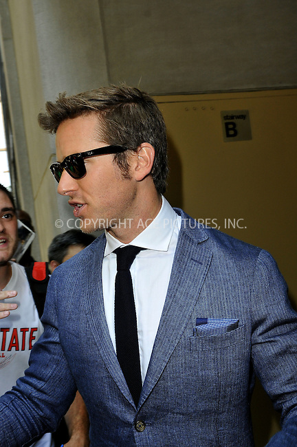 WWW.ACEPIXS.COM<br /> <br /> June 24 2013, New York City<br /> <br /> Actor Armie Hammer leaving a TV studio on June 24 2013 in New York City<br /> <br /> By Line: Romeo/ACE Pictures<br /> <br /> <br /> ACE Pictures, Inc.<br /> tel: 646 769 0430<br /> Email: info@acepixs.com<br /> www.acepixs.com