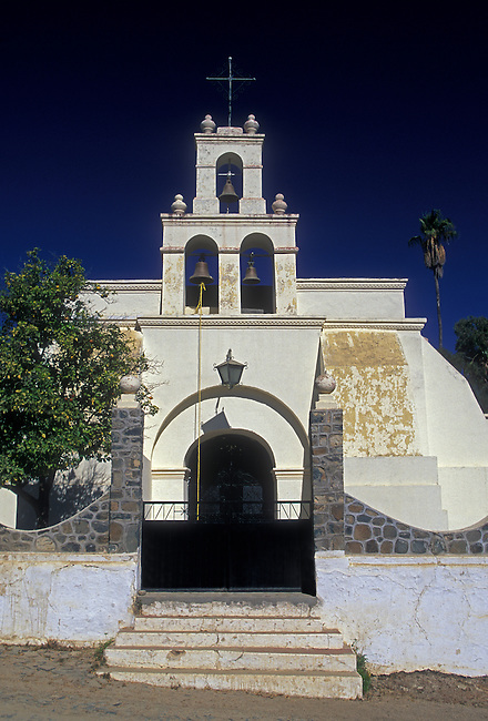 Parish church, San Antonio, Baja California Sur State, Mexico, North America