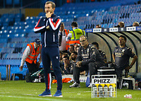 Leeds United manager Marcelo Bielsa watches on during the second half<br /> <br /> Photographer Alex Dodd/CameraSport<br /> <br /> The Carabao Cup Second Round- Leeds United v Stoke City - Tuesday 27th August 2019  - Elland Road - Leeds<br />  <br /> World Copyright © 2019 CameraSport. All rights reserved. 43 Linden Ave. Countesthorpe. Leicester. England. LE8 5PG - Tel: +44 (0) 116 277 4147 - admin@camerasport.com - www.camerasport.com