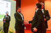 RIO DE JANEIRO, RJ, 30 AGOSTO 2012-FIFA-ENTREVISTA COLETIVA- Ronaldo membro do COL na entrevista coletiva realizada pelo Comitê Organizador Local (COL) da Copa do Mundo da FIFA 2014, posterior à reunião de Diretoria do COL, no dia 30 de agosto de 2012, no Rio de Janeiro, no Hotel Windsor, na Barra da Tijuca, zona oeste do Rio de Janeiro.(FOTO:MARCELO FONSECA/BRAZIL PHOTO PRESS).