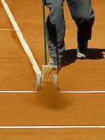 20040407, Spain, Mallorca, tennis, Daviscup, Spain-Netherlands, training