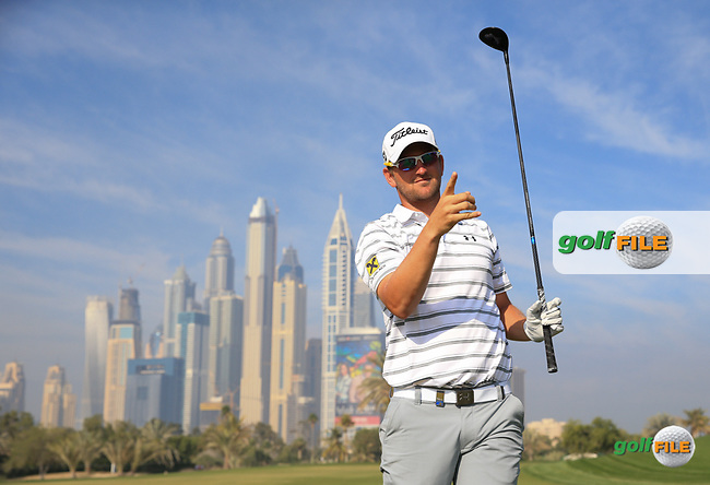 Bernd Wiesberger (AUT) during the Pro-Am at the 2016 Omega Dubai Desert Classic, played on the Emirates Golf Club, Dubai, United Arab Emirates.  03/02/2016. Picture: Golffile   David Lloyd<br /> <br /> All photos usage must carry mandatory copyright credit (&copy; Golffile   David Lloyd)