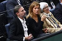 1st November 2019, AccorHotels Arena, Bercy, Paris, France; Rolex Paris Masters tennis tournament;  Anne Gravoin with son and companion Nicolas Guiraud