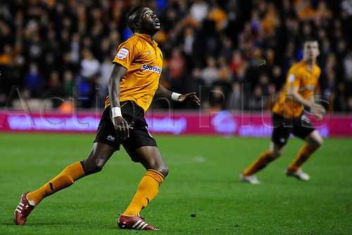 02.10.2012 Wolverhampton, England. Bakary Sako in action for Wolverhampton Wanderers  during the Championship game between Wolverhampton Wanderers  and Crystal Palace from Molineux, Wolverhampton, England