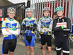Drogheda Wheelers members Men McCourt, Brendan McEntee, Gearóid Campbell and Jack O'Donnell who took part in the Kevin King Memorial Cycle in aid of St John's Ambulance Brigade and Drogheda and District Support 4 Older People. Photo:Colin Bell/pressphotos.ie