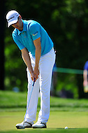 Bethesda, MD - June 29, 2014: Brendon Todd sinks a putt on eight during final round of play at the Quicken Loans National at Congressional Country Club in Bethesda MD. (Photo by Phillip Peters/Media Images International)