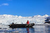 Relaxing in the Zodiac in Cierva Cove along the Antarctic Peninsula.