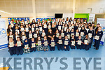 Presentation secondary school students receive their certs for Junior Cert Profile of Achievements in the school on Thursday