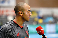 20191010 - HALLE: Benfica's Fits is pictured giving an interview after the UEFA Futsal Champions League Main Round match between Araz Naxcivan and SL Benfica on 10th October 2019 at De Bres Sportcomplex, Halle, Belgium. PHOTO SPORTPIX | SEVIL OKTEM