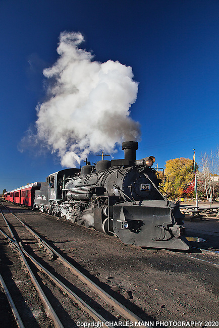 The Cumbres & Toltec narrow guage steam railroad is a popular attraction in the northern New Mexico town of Chama and brings visitors and railroad buffs from around the world.