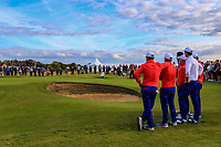 Andy Ogletree (USA) on the 16th green during Day 2 Singles at the Walker Cup, Royal Liverpool Golf CLub, Hoylake, Cheshire, England. 08/09/2019.<br /> Picture Thos Caffrey / Golffile.ie<br /> <br /> All photo usage must carry mandatory copyright credit (© Golffile | Thos Caffrey)