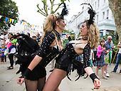 London, UK. 11 June 2016. Dancers from the Paraiso School of Samba perform to hot Brazilian samba rhythms at the Primrose Hill Summer Fair in London.