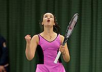 March 15, 2015, Netherlands, Rotterdam, TC Victoria, NOJK, Liza Lebedzeva (NED) celebrates her win, Dutch indoor 18 years<br /> Photo: Tennisimages/Henk Koster