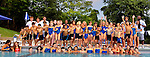 Pocantico Hills Swim and Dive Team celebrates the end of a grueling photo session.