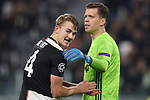 Matthijs De Ligt and Wojciech Szczesny of Juventus during the UEFA Champions League match at Juventus Stadium, Turin. Picture date: 26th November 2019. Picture credit should read: Jonathan Moscrop/Sportimage