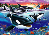 Interlitho, Lorenzo, FANTASY, paintings, orcas, KL, KL3841,#fantasy# illustrations, pinturas
