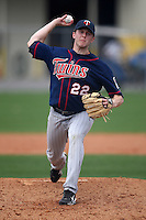 March 18, 2010:  Pitcher Shooter Hunt (22) of the Minnesota Twins organization during Spring Training at the Ft. Myers Training Complex in Ft. Myers, FL.  Photo By Mike Janes/Four Seam Images