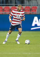 03 June 2012: US Men's National Soccer Team defender Oguchi Onyewu #5 in action during an international friendly  match between the United States Men's National Soccer Team and the Canadian Men's National Soccer Team at BMO Field in Toronto..The game ended in 0-0 draw...