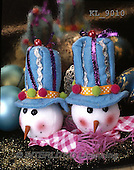 Interlitho, CHRISTMAS SYMBOLS, WEIHNACHTEN SYMBOLE, NAVIDAD SÍMBOLOS, photos+++++,2 snowmenheads,blue hats,KL9010,#xx#