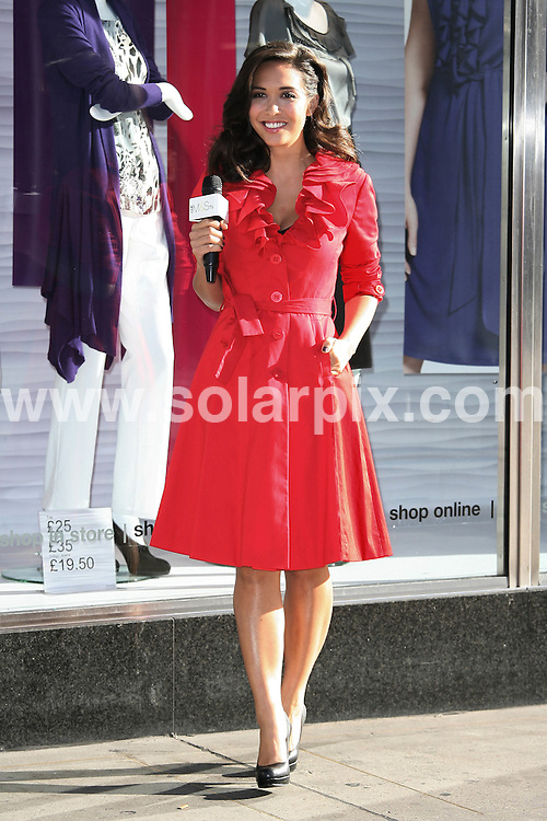 **ALL ROUND PICTURES FROM SOLARPIX.COM**.**WORLDWIDE SYNDICATION RIGHTS**.Myleene Klass arrives at the face of M&S TV Photo-call  in Oxford Street, London, UK. 20 August 2010..This pic: Myleene Klass..JOB REF: 11944 LNJ     DATE: 20_08_2010.**MUST CREDIT SOLARPIX.COM OR DOUBLE FEE WILL BE CHARGED**.**MUST NOTIFY SOLARPIX OF ONLINE USAGE**.**CALL US ON: +34 952 811 768 or LOW RATE FROM UK 0844 617 7637**