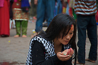 Young Girl at the Animal Sacrifice Temple at Dahsa Kali