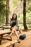 USA, Oregon, Wild and Scenic Rogue River in the Medford District, portrait of Liz Wan at the Paradise Lodge