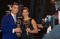 Zurigo 09-01-2017 FIFA Football Awards - Cristiano Ronaldo (POR), player of the year, men, and Carli Lloyd (USA), player of the year, women, during the Best FIFA Football Awards 2016 in Zurich<br /> Foto Steffen Schmidt/freshfocus/Insidefoto