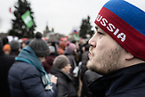 Protester particpating in the anti-corruption protest organised by Russia oppositional Alexsei Navalny in Saint Petersburg and the rest of Russia on the 26.03.2017. With thouasands particpating these are the biggest demonstrations in Russia since 2011.