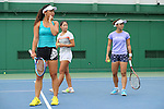 (L to R) <br /> Eri Hozumi, <br /> Nao Hibino, <br /> Misaki Doi (JPN), <br /> JULY 13, 2016 - Tennis : <br /> Training <br /> for Rio Olympic Games in Tokyo, Japan. <br /> (Photo by YUTAKA/AFLO SPORT)