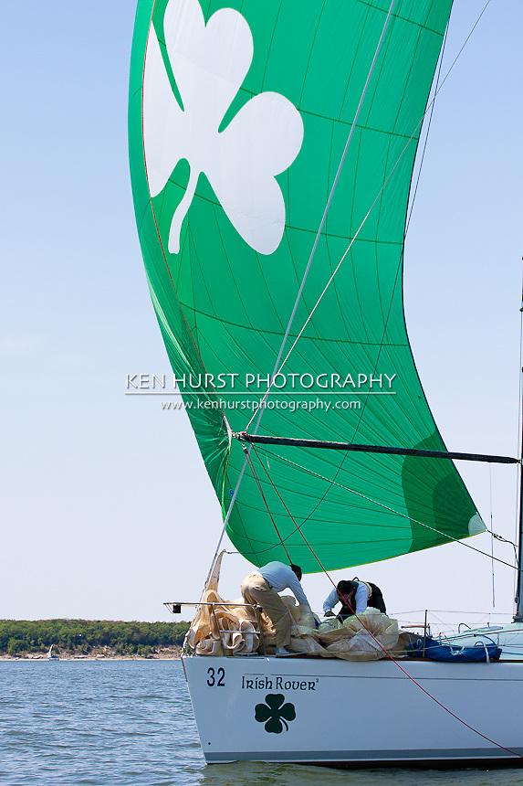 Irish Rover, a Beneteau 40.7, racing at Texoma Sailing Club Lakefest Regatta 2011, 25th annual charity regatta at Lake Texoma, Denison, Texas.