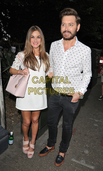 LONDON, ENGLAND - JULY 23: Nikki Grahame &amp; Brian Dowling attend the RUComingOut.com summer party, Royal Vauxhall Tavern, Kennington Lane, on Thursday July 23, 2015 in London, England, UK.  <br /> CAP/CAN<br /> &copy;Can Nguyen/Capital Pictures