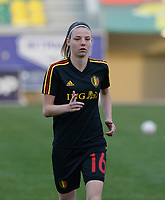 20180228 - LARNACA , CYPRUS :  Belgian Nicky Van Den Abbeele pictured during a women's soccer game between Spain and the Belgian Red Flames , on friday 2 March 2018 at the AEK Arena in Larnaca , Cyprus . This is the second  game in group B for  Belgium during the Cyprus Womens Cup , a prestigious women soccer tournament as a preparation on the World Cup 2019 qualification duels. PHOTO SPORTPIX.BE | DAVID CATRY