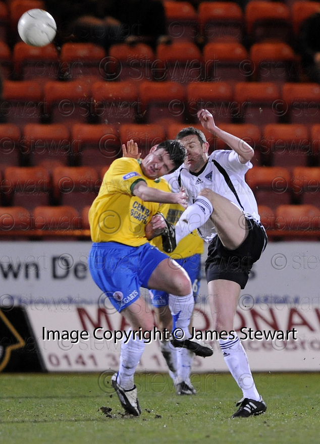 11/03/2008    Copyright Pic: James Stewart.File Name : sct_jspa12_dunfermline_v_hamilton.DUNFERMLINE BOSS JIM MCINTYRE GOES IN HIGH .James Stewart Photo Agency 19 Carronlea Drive, Falkirk. FK2 8DN      Vat Reg No. 607 6932 25.Studio      : +44 (0)1324 611191 .Mobile      : +44 (0)7721 416997.E-mail  :  jim@jspa.co.uk.If you require further information then contact Jim Stewart on any of the numbers above........