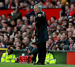 Jose Mourinho manager of Manchester United shouts instructions to his players urging them forward during the premier league match at the Old Trafford Stadium, Manchester. Picture date 15th April 2018. Picture credit should read: Simon Bellis/Sportimage