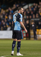 Paul Hayes of Wycombe Wanderers during the Sky Bet League 2 match between Cambridge United and Wycombe Wanderers at the R Costings Abbey Stadium, Cambridge, England on 1 March 2016. Photo by Andy Rowland / PRiME Media Images.