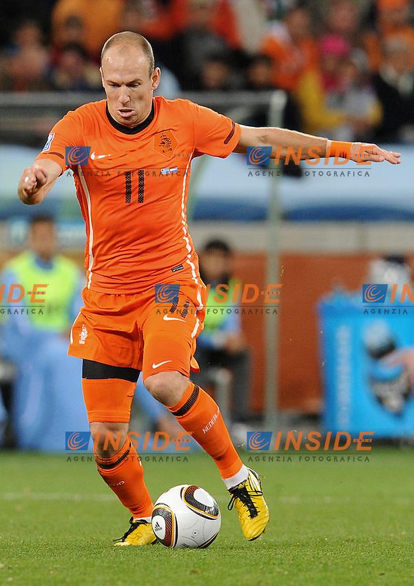 Arijen Robben (Olanda)<br /> Uruguay Olanda - Uruguay vs Netherlands<br /> Semifinale - Semifinal<br /> Campionati del Mondo di Calcio Sudafrica 2010 - World Cup South Africa 2010<br /> Green Point Stadium, Cape Town  06/07/2010<br /> &copy; Giorgio Perottino / Insidefoto